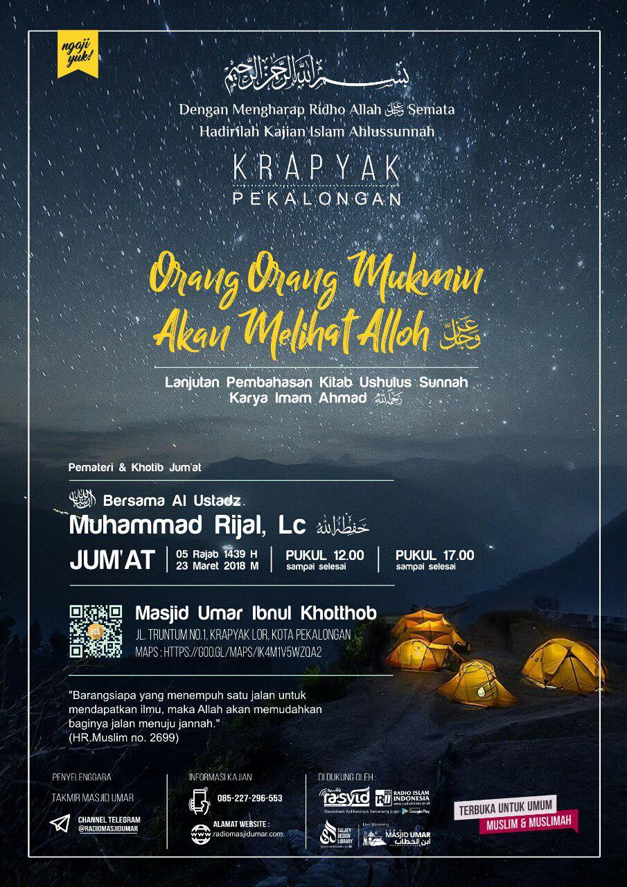 Kajian Ustadz Muhammad Rijal Lc -hafidzahullah- 23 Maret 2018