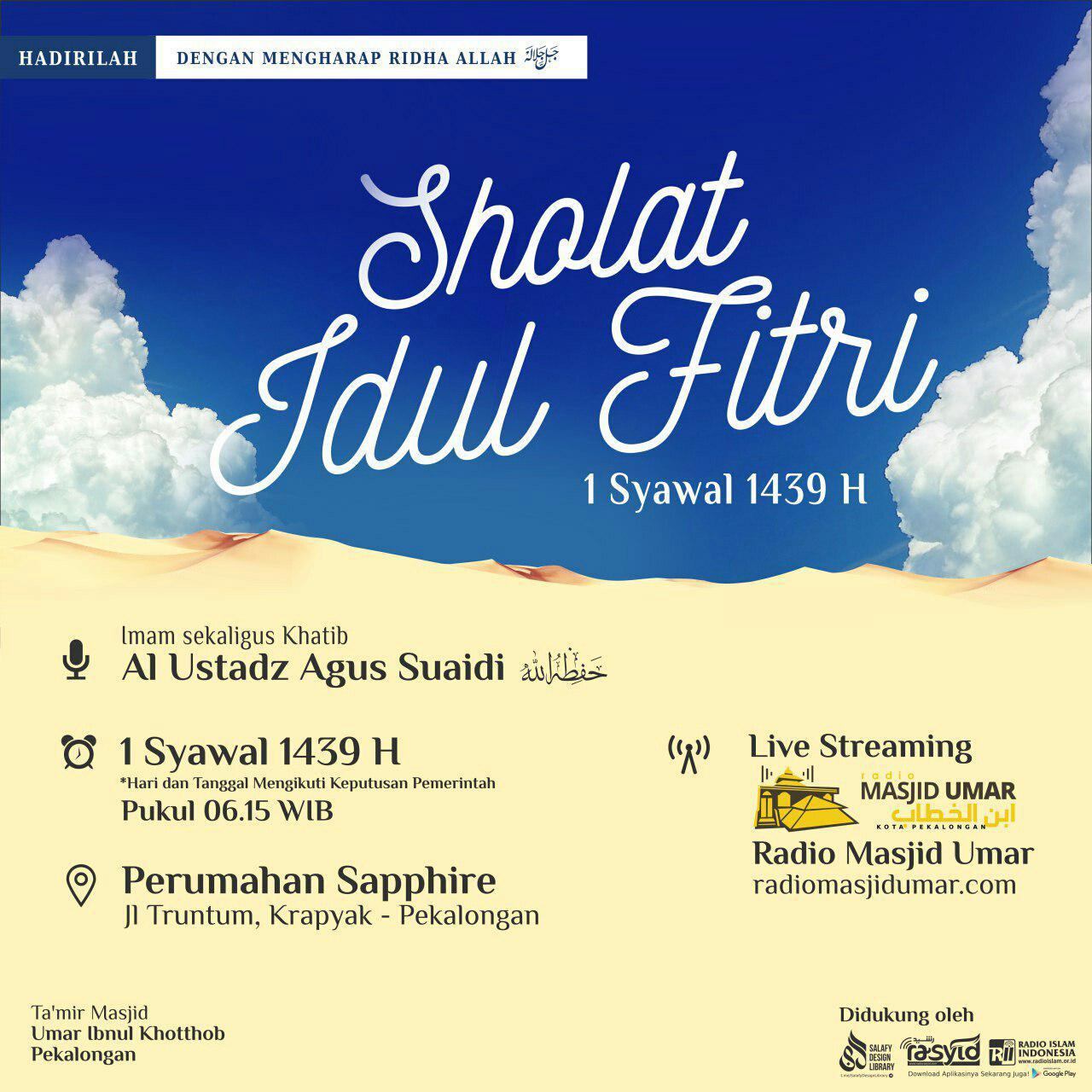Khutbah Idul Fitri 1439 H : Hati Yang Selamat
