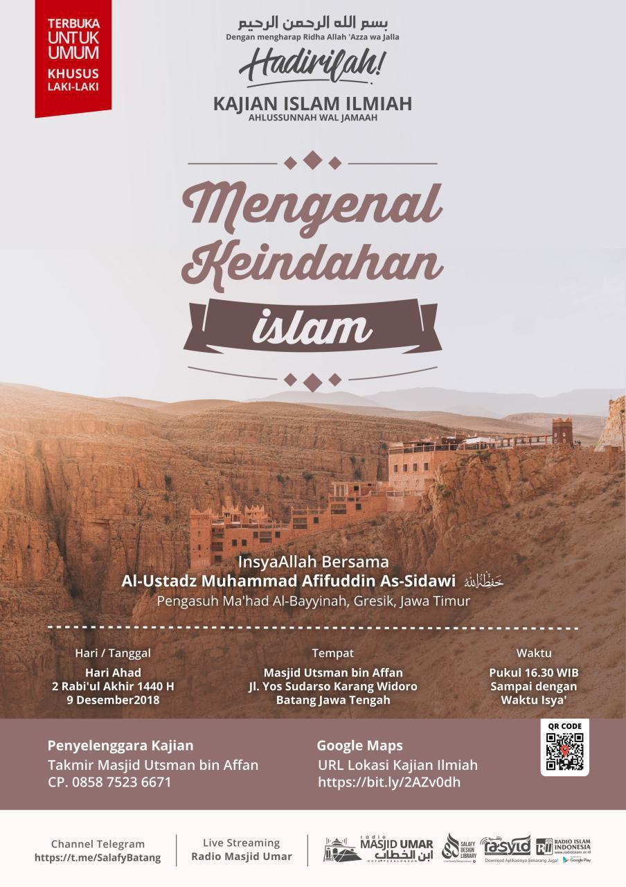 Kajian Ustadz Muhammad Afifuddin hafidzahullah di Batang – 9 Desember 2018