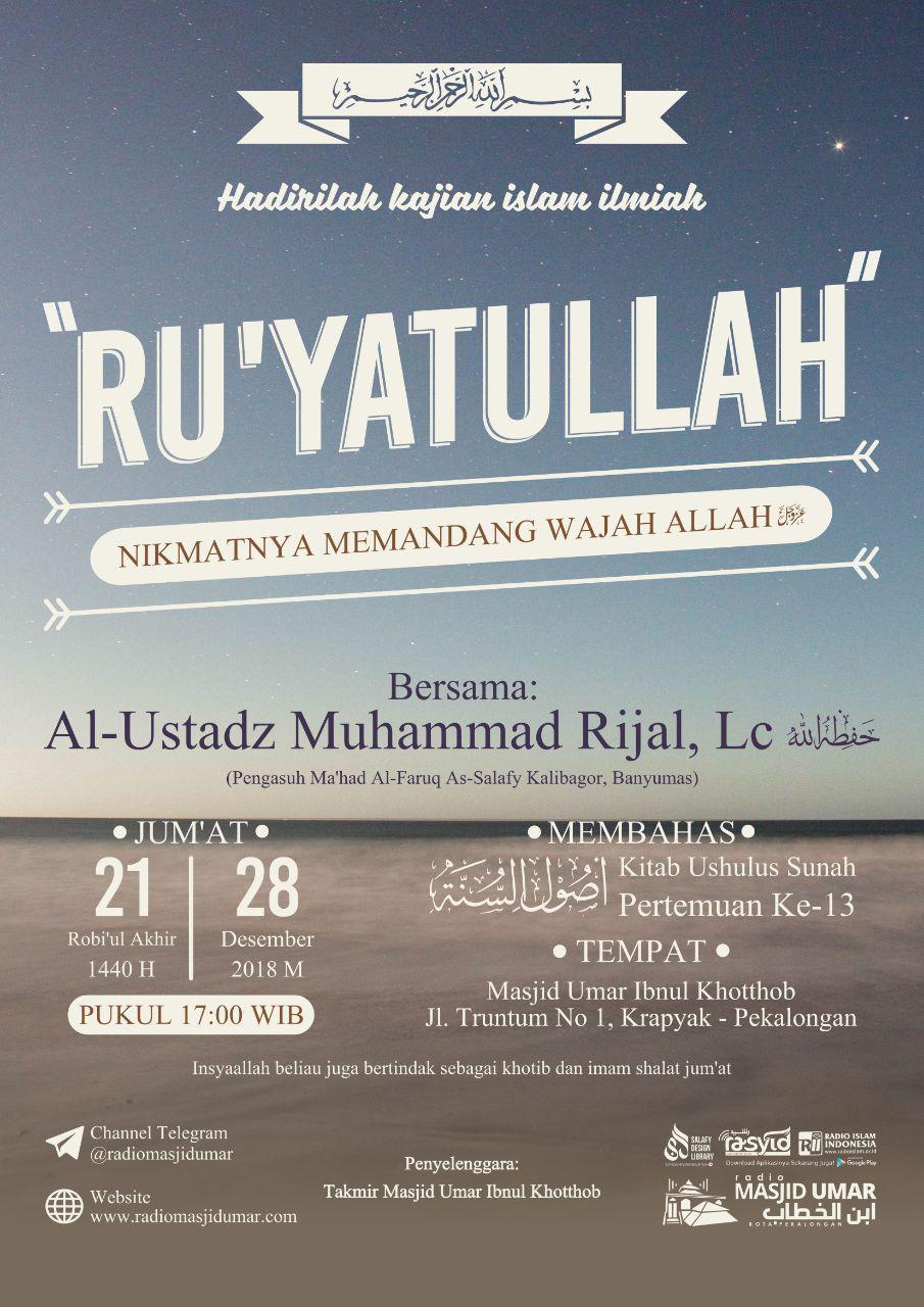 Kajian Ustadz Muhammad Rijal Lc hafidzahullah – 28 Desember 2018