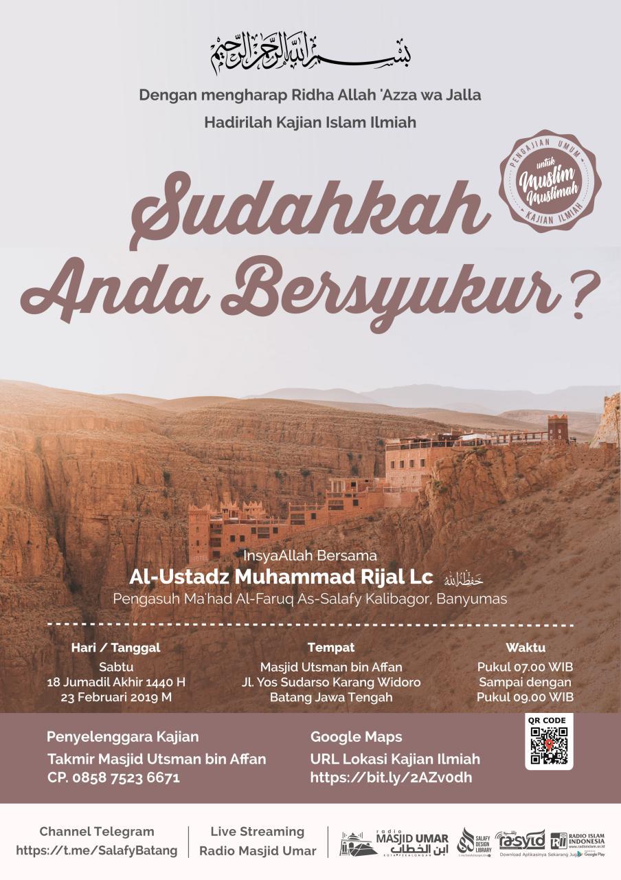 Kajian Ustadz Muhammad Rijal Lc hafidzahullah – 23 Februari 2019