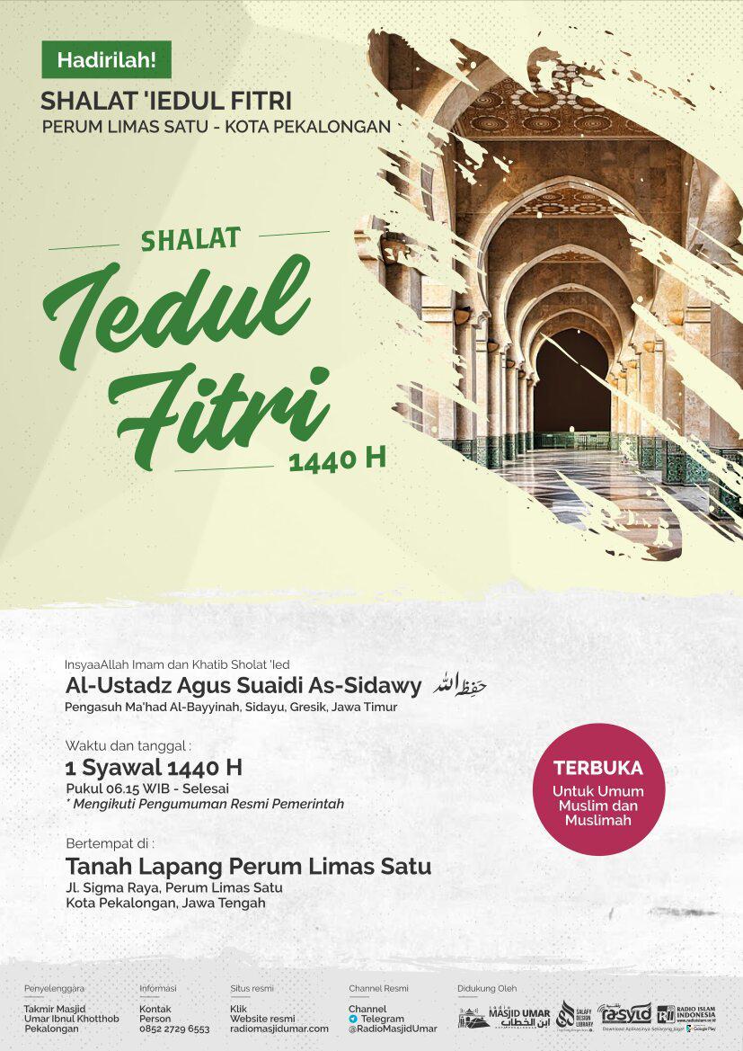 Shalat Idul Fitri 1 Syawwal 1440