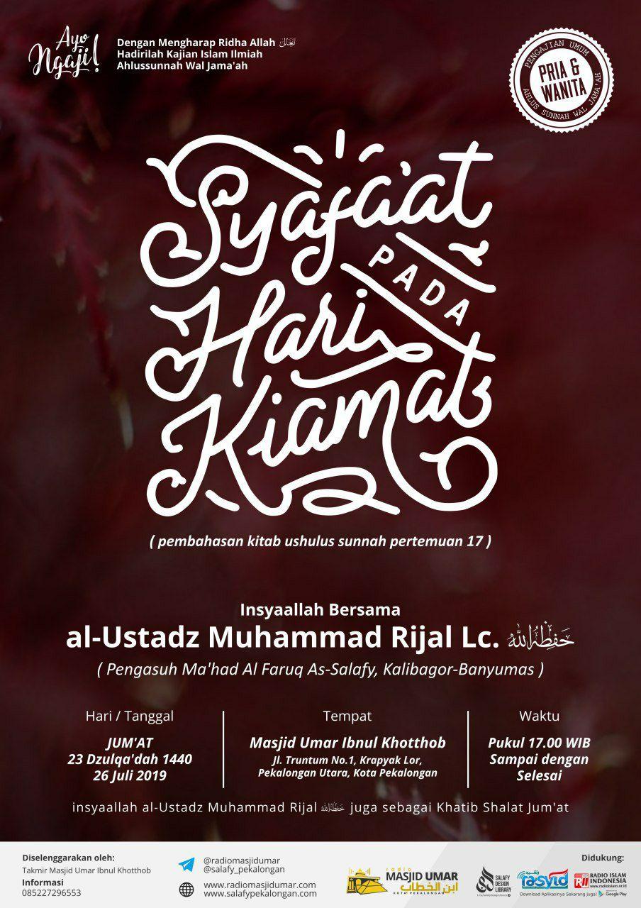 Kajian Ustadz Muhammad Rijal Lc hafidzahullah – 26 Juli 2019