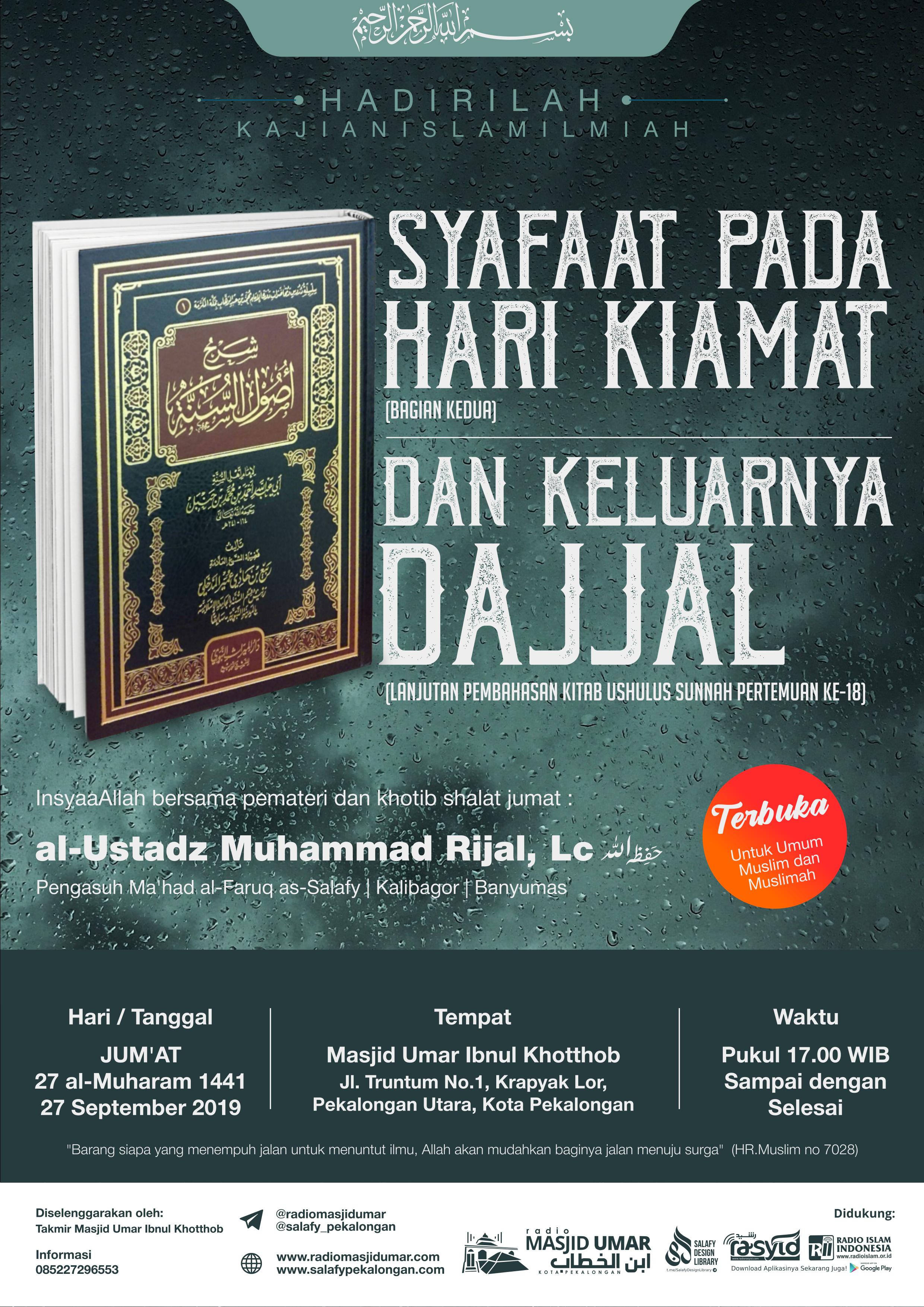 Kajian Ustadz Muhammad Rijal Lc hafidzahullah – 27 September 2019