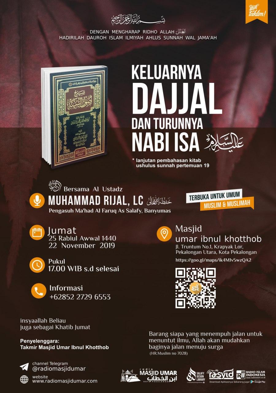 Kajian Ustadz Muhammad Rijal Lc hafidzahullah – 22 November 2019