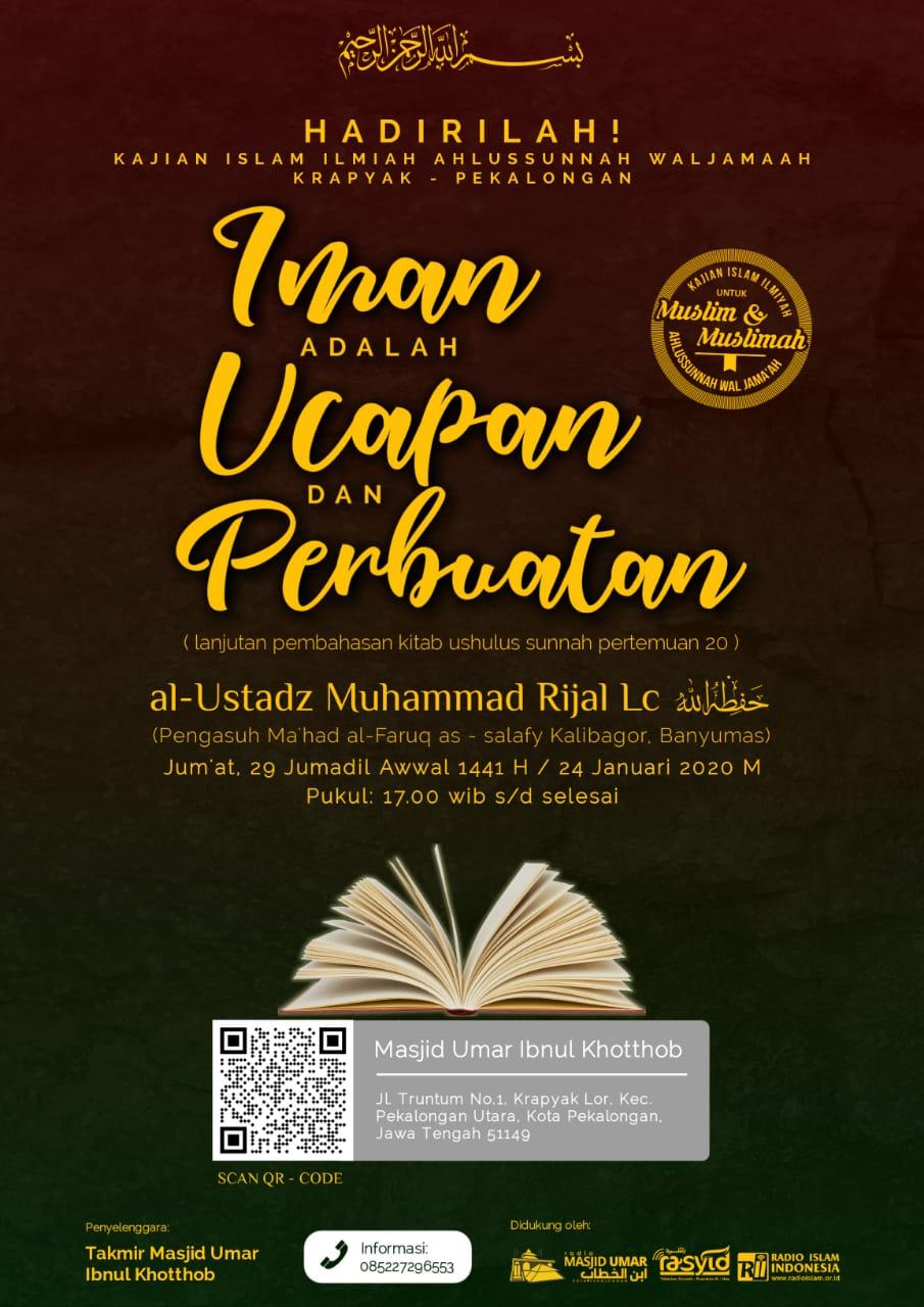 Kajian Ustadz Muhammad Rijal Lc hafidzahullah – 24 Januari 2020