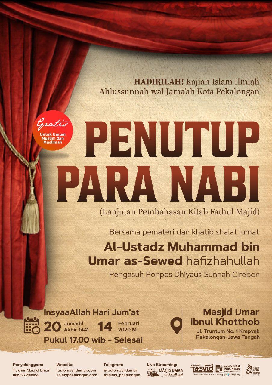Kajian Ustadz Muhammad bin Umar As Sewed hafidzahullah – 14 Februari 2020